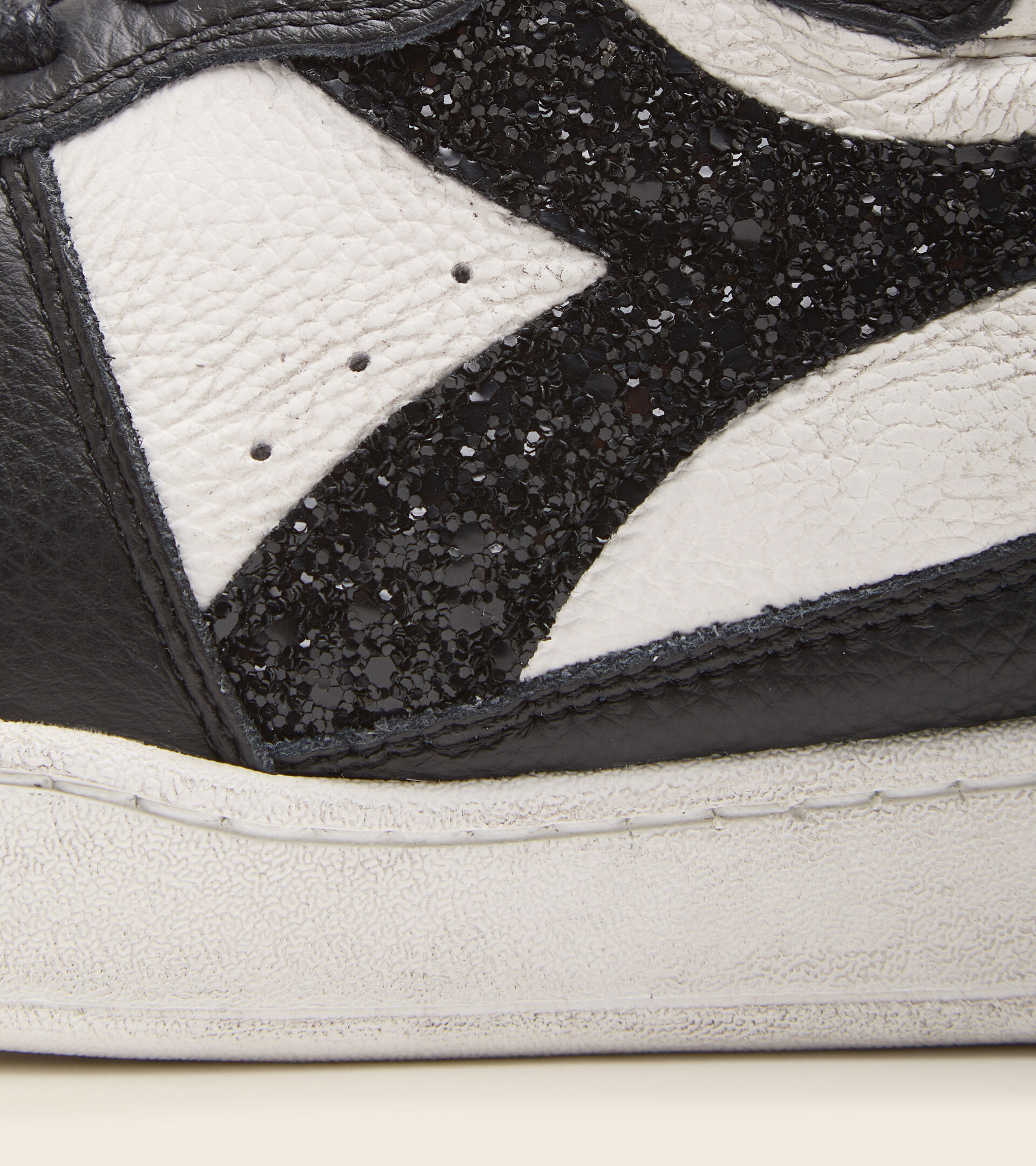 Footwear Heritage DONNA MI BASKET ROW CUT JUNGLE WN BIANCO/NERO Diadora