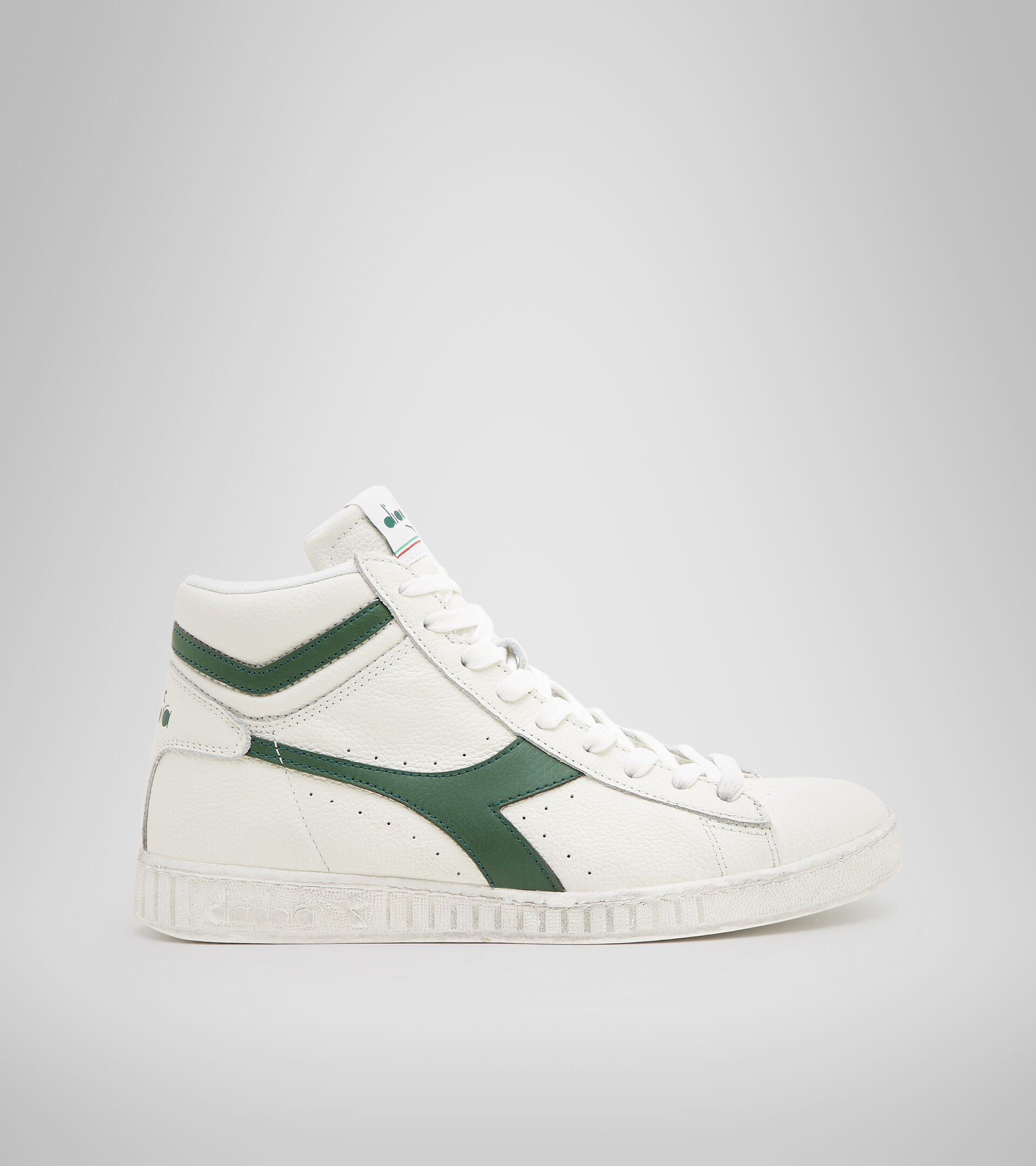 Footwear Sportswear UNISEX GAME L HIGH WAXED BIANCO/FOGLIAME Diadora
