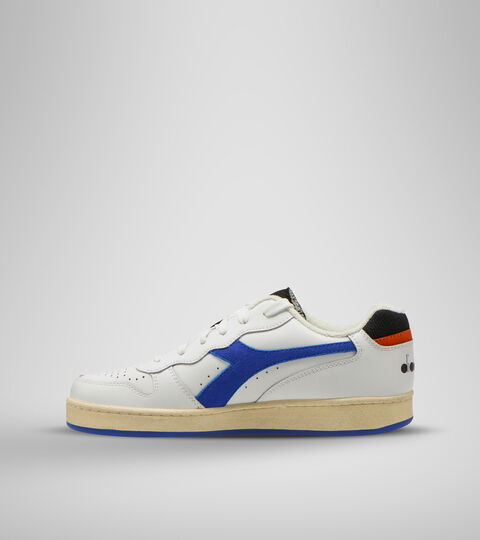 Footwear Sportswear UNISEX MI BASKET LOW ICONA BIANCO/BLU PERSIA/ARANCIATA Diadora