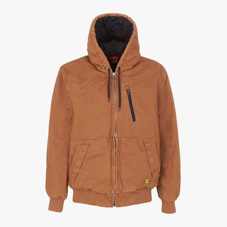 JACKET PADDED CANVAS 13688:2013, BROWN TOBACCO, large