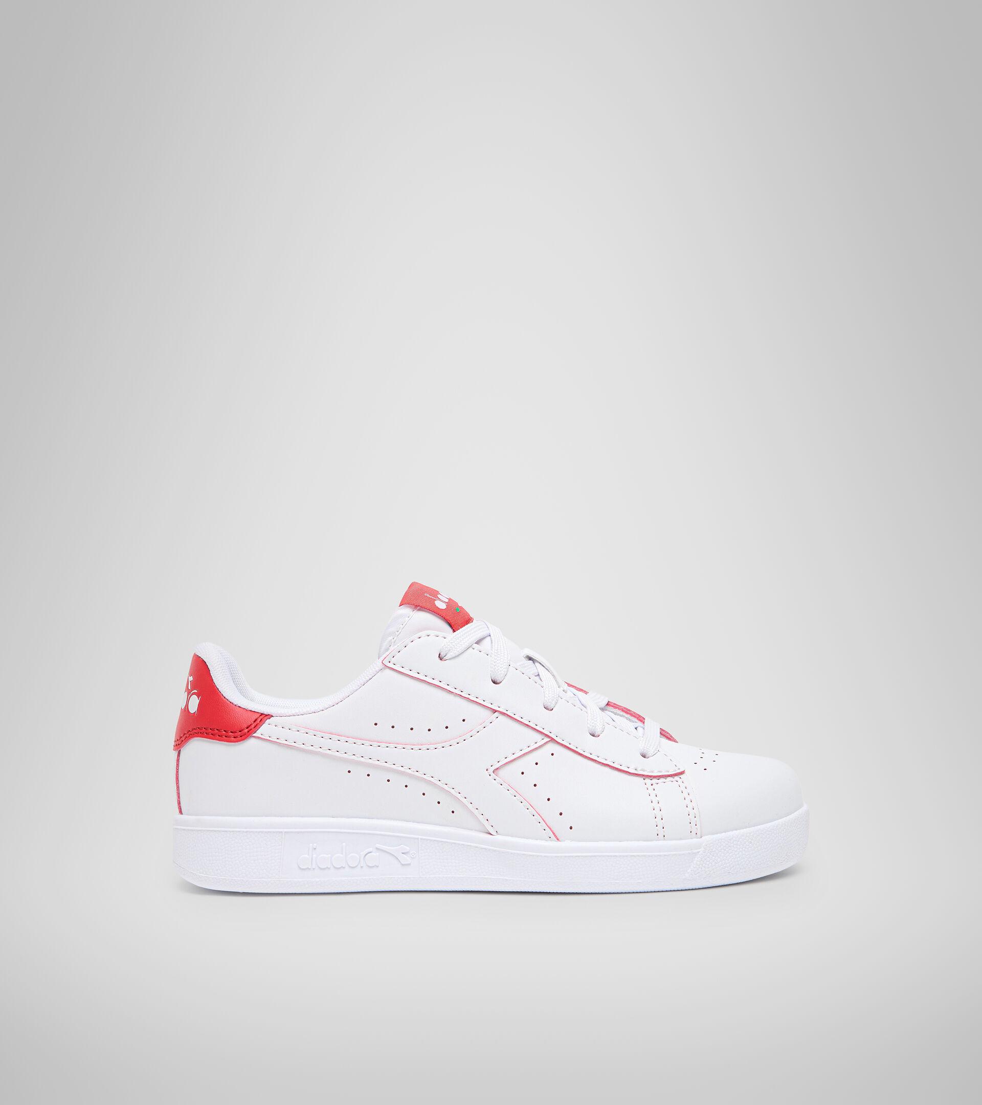 Footwear Sport BAMBINO GAME P SMASH GS WHITE/TOMATO RED Diadora