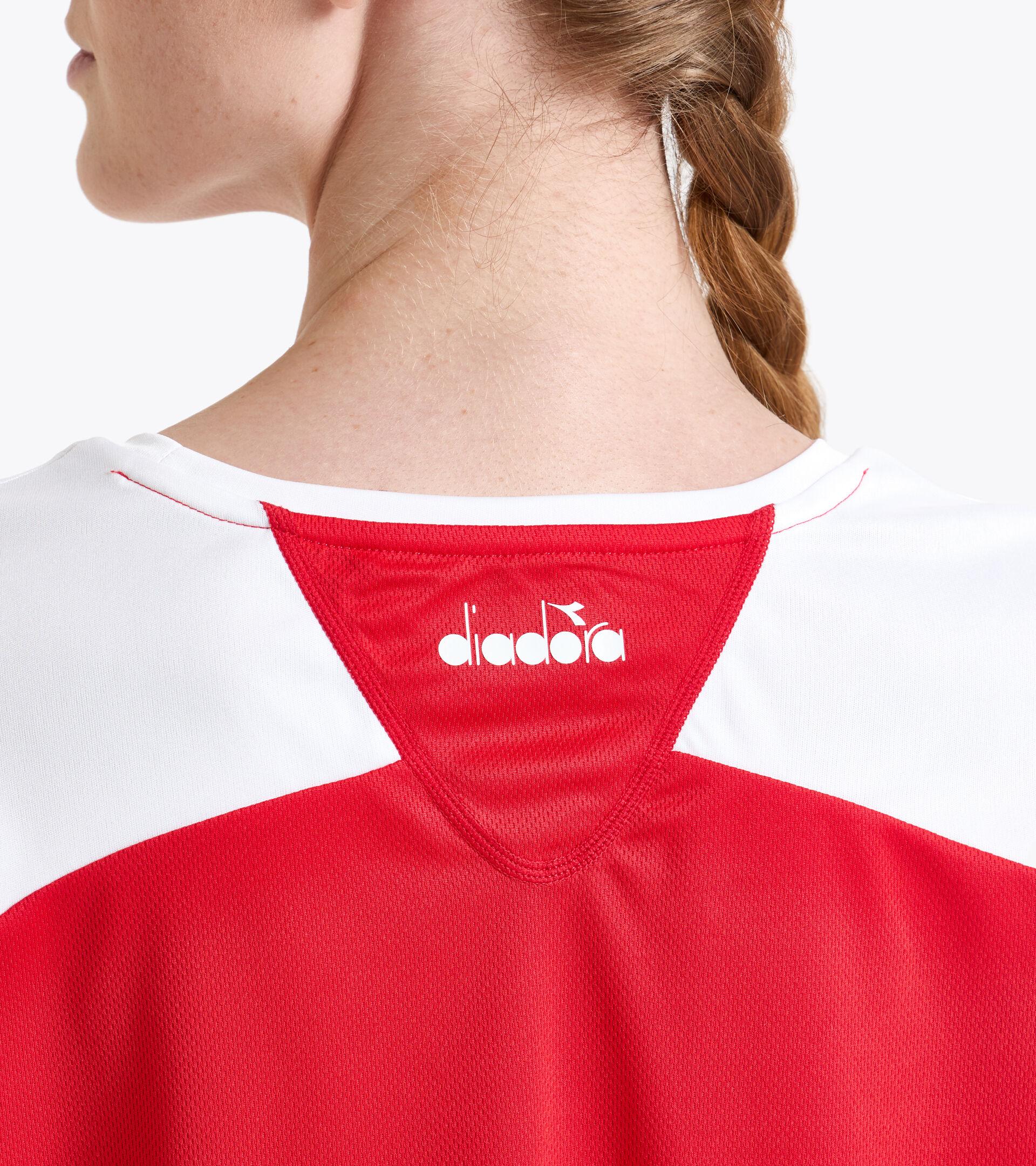 Camiseta de tenis - Mujer L. T-SHIRT COURT ROJO TOMATE - Diadora