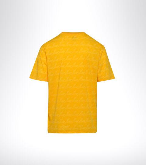 Sports T-shirt - Men SS T-SHIRT PLUS BE ONE ALL OVER SAFFRON - Diadora