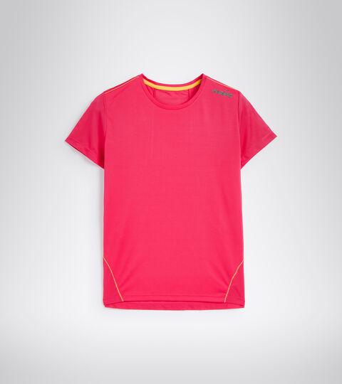 Running T-shirt - Women L. X-RUN SS T-SHIRT RED VIRTUAL PINK - Diadora
