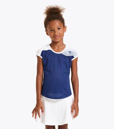 Camiseta de tenis - Junior G. T-SHIRT COURT AZUL FINCA - Diadora