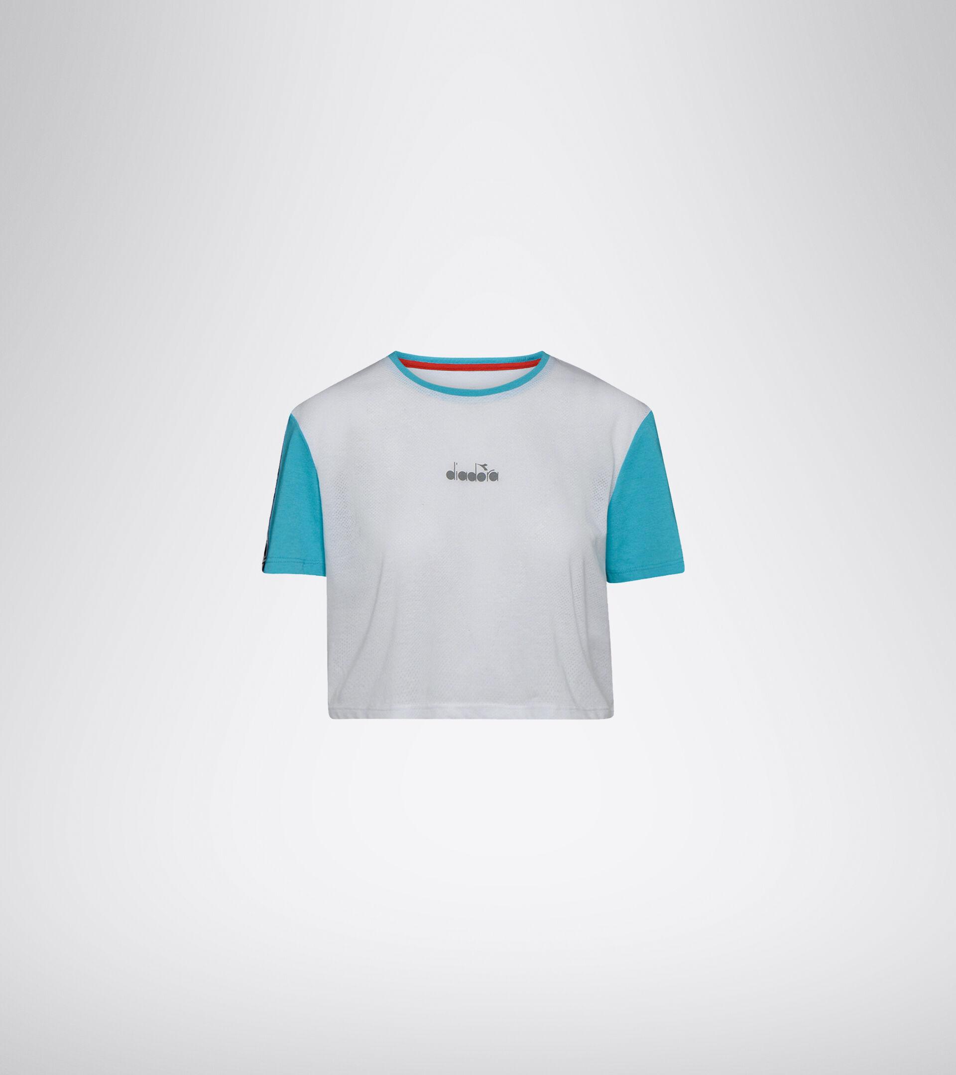 Camiseta de entrenamiento - Mujer L. CROP TOP BE ONE BLANCO VIVO - Diadora