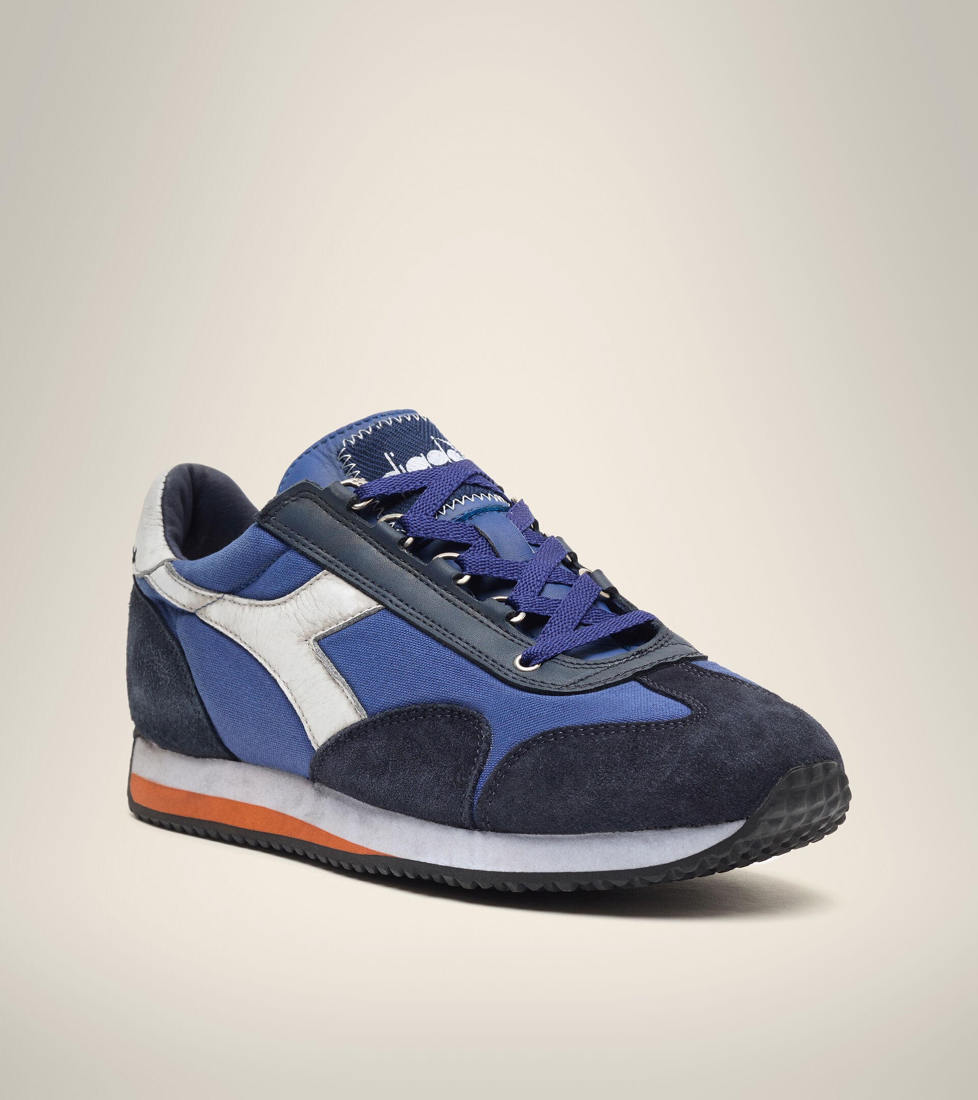 Footwear Heritage UNISEX EQUIPE H DIRTY STONE WASH EVO BLUE LIMONGES Diadora