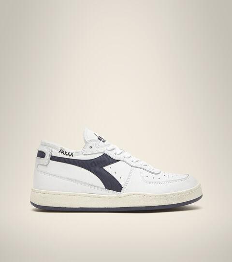 Footwear Heritage UNISEX MI BASKET ROW CUT WEISS/SCHWARZ SCHWERTLILIE Diadora