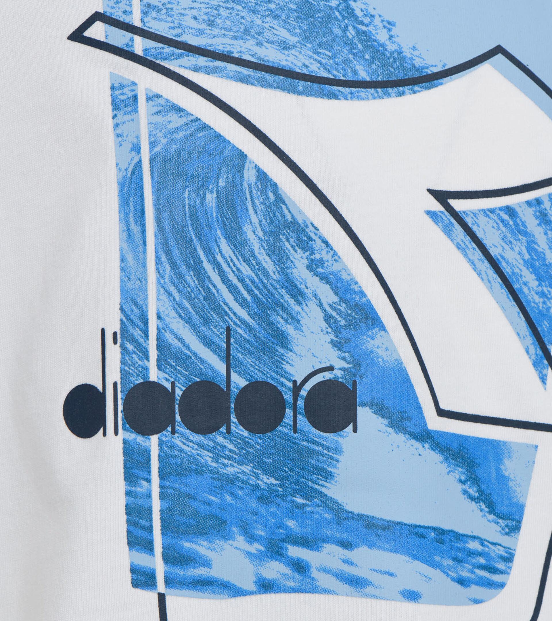 T-Shirt mit Logo -  Jungs und Mädchen JU. T-SHIRT SS ELEMENTS STRAHLEND WEISSE - Diadora