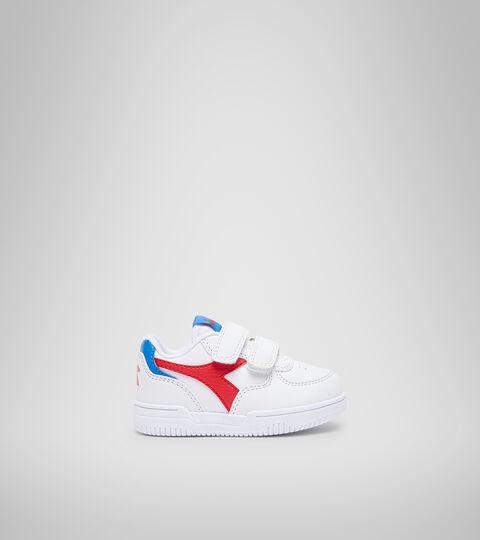 Footwear Sport BAMBINO RAPTOR LOW TD WHITE/TOMATO RED Diadora
