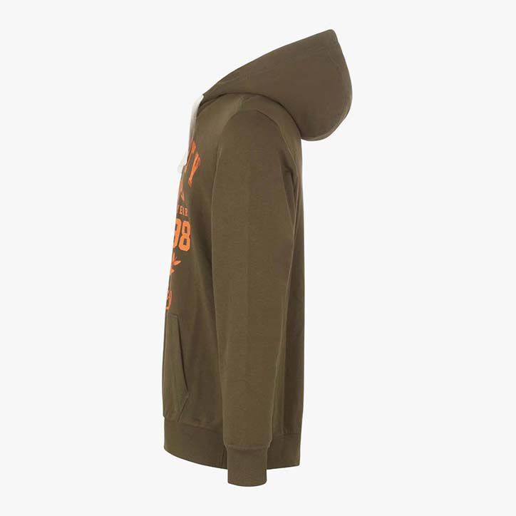 SWEATSHIRT HOOD GRAPHIC, MILITARY GREEN, large