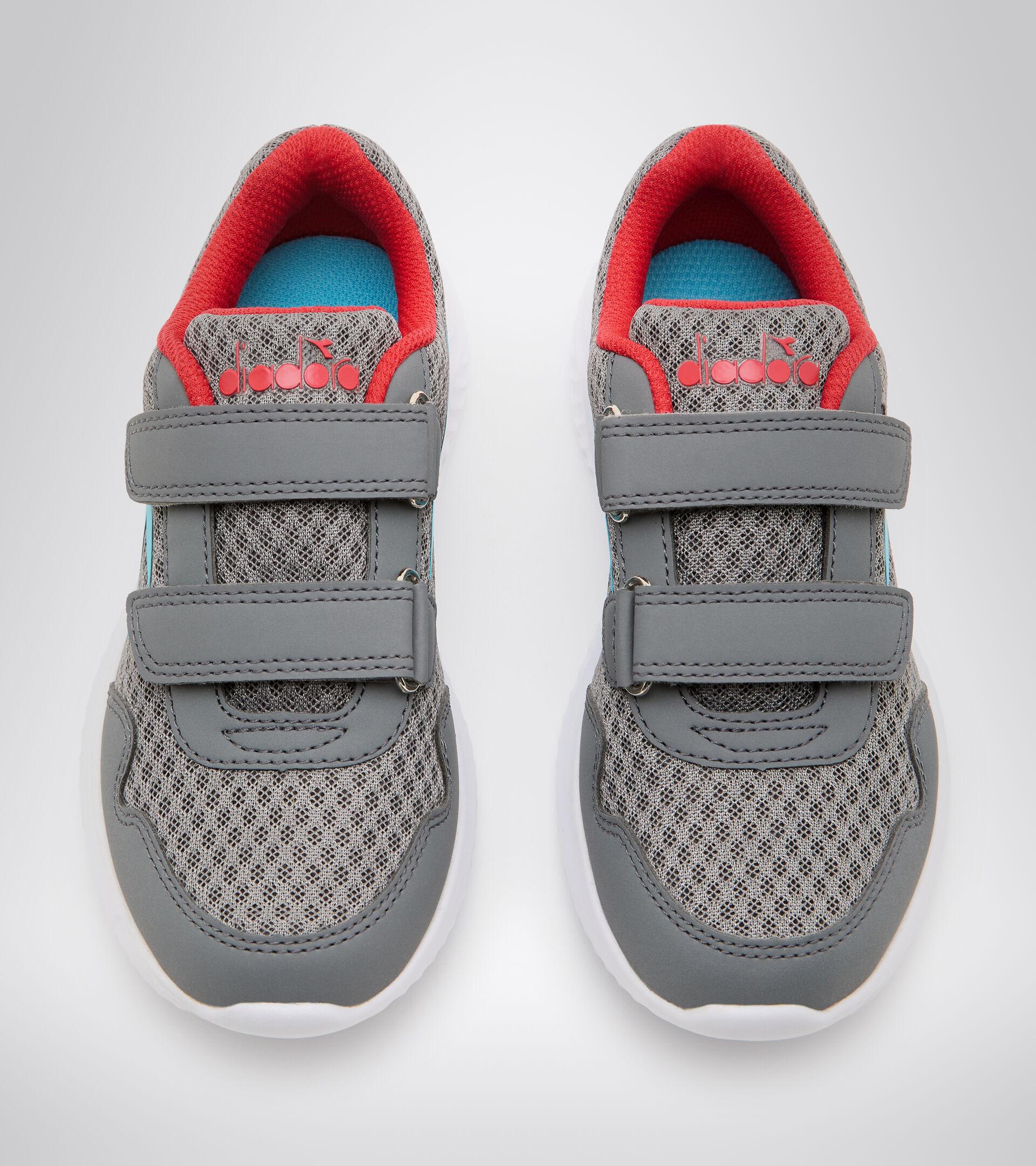 Running shoe - Kids ROBIN 2 JR V STEEL GRAY/BLUE ATOLL - Diadora