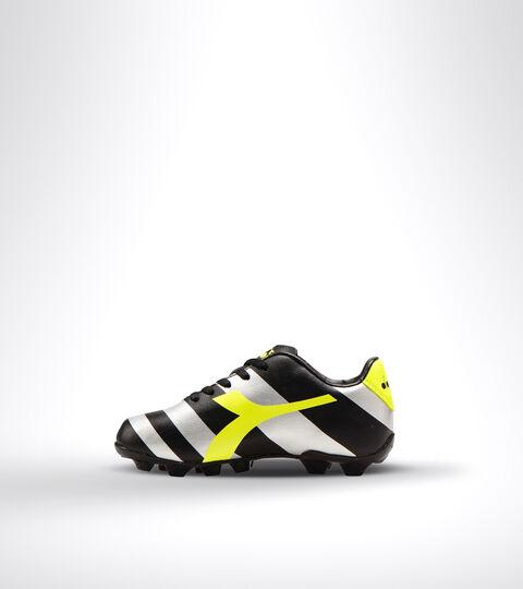 Footwear Sport BAMBINO RAPTOR R MD JR BLACK/SILVER/YELLOW FL DD Diadora