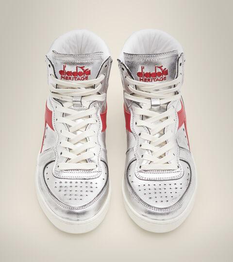 Heritage shoe - Women MI BASKET SILVER USED W SILVER/RED - Diadora