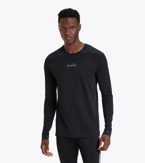 Trainings-T-Shirt mit langem Arm - Herren LS SKIN FRIENDLY T-SHIRT SCHWARZ - Diadora
