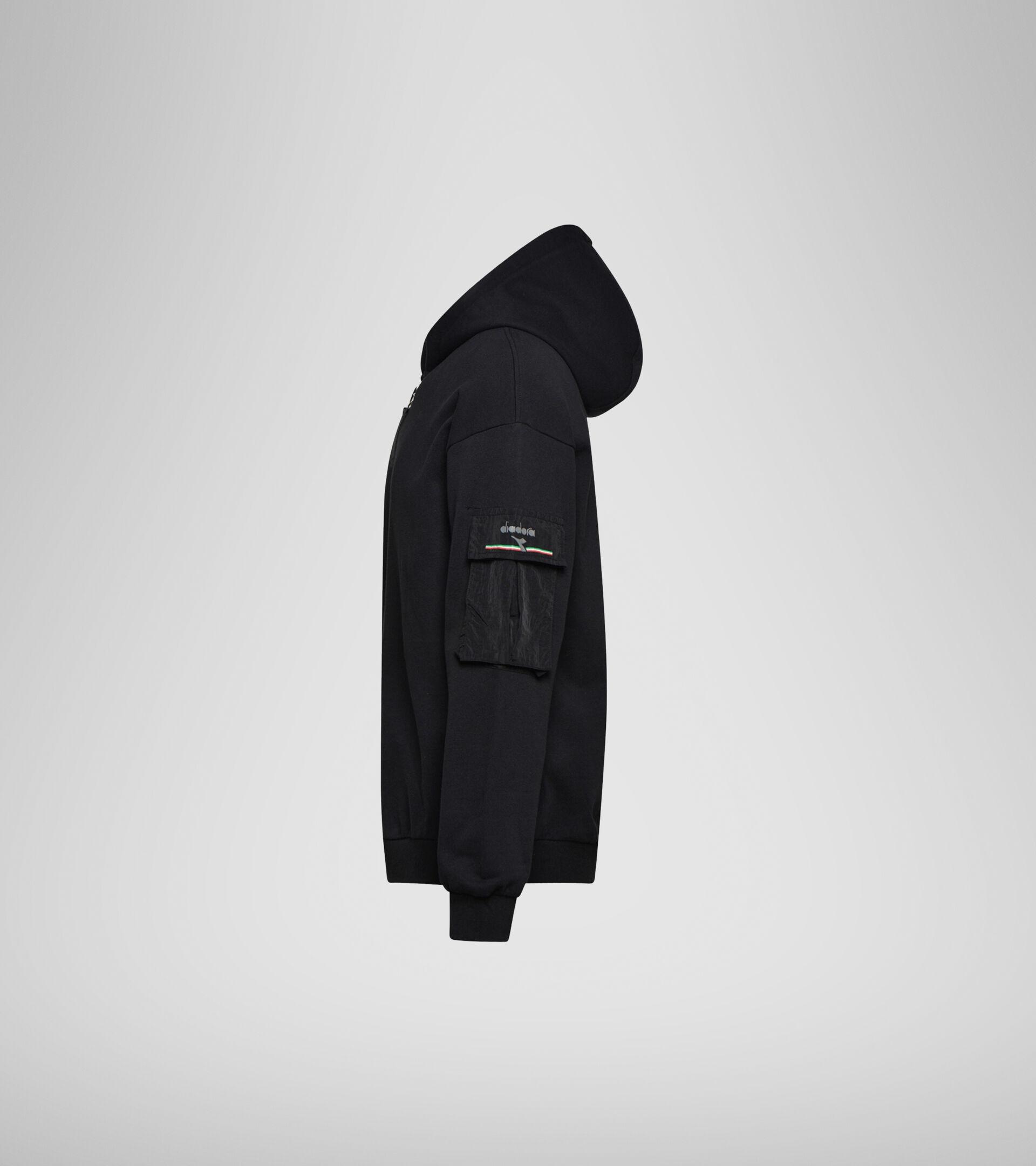 Apparel Sportswear UOMO HOODIE FZ URBANITY BLACK Diadora