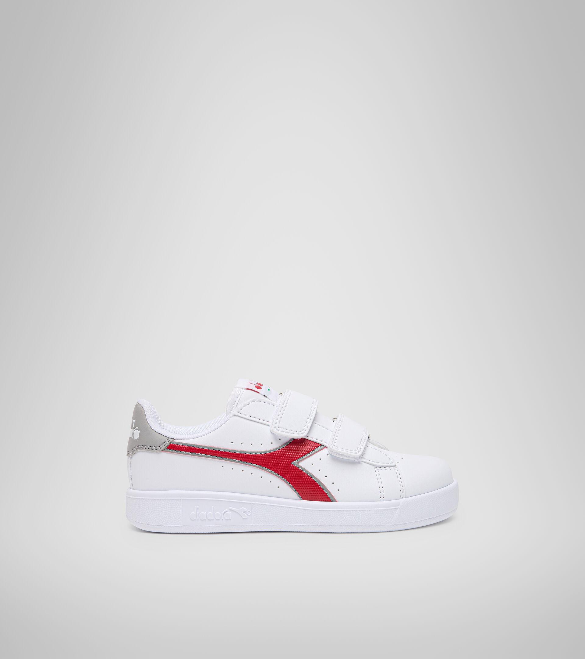 Footwear Sport BAMBINO GAME P PS WHITE/TANGO RED Diadora