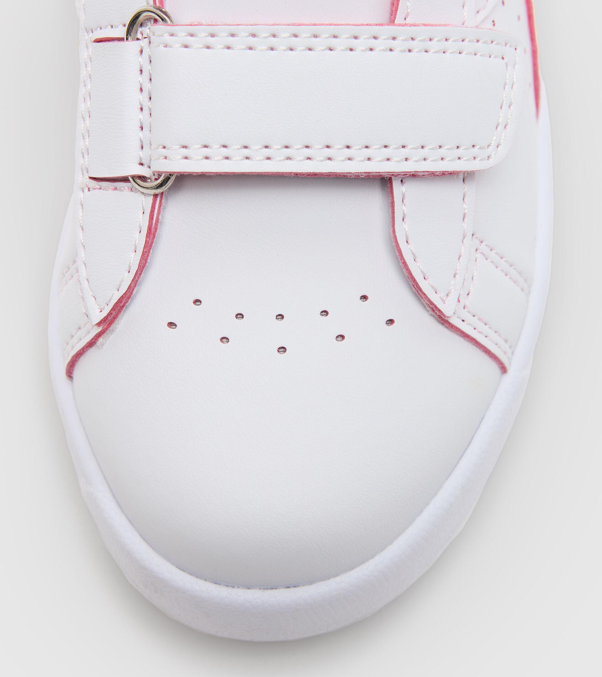 Footwear Sport BAMBINO GAME P SMASH PS WHITE/TOMATO RED Diadora