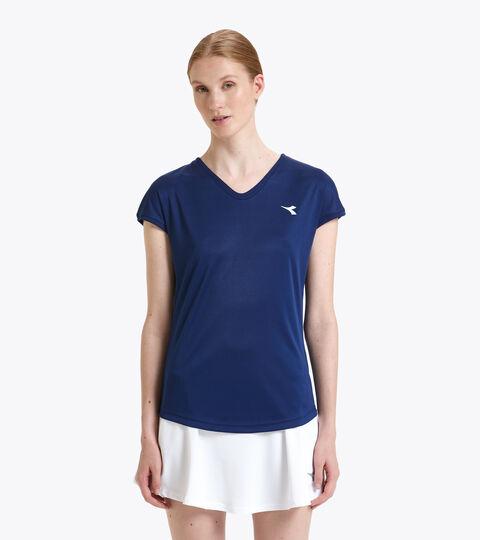 Camiseta de tenis - Mujer L. T-SHIRT TEAM AZUL FINCA - Diadora