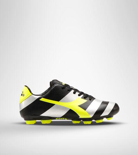 Footwear Sport UOMO RAPTOR R LPU NERO/ARGENTO/GIALLO FL DD Diadora