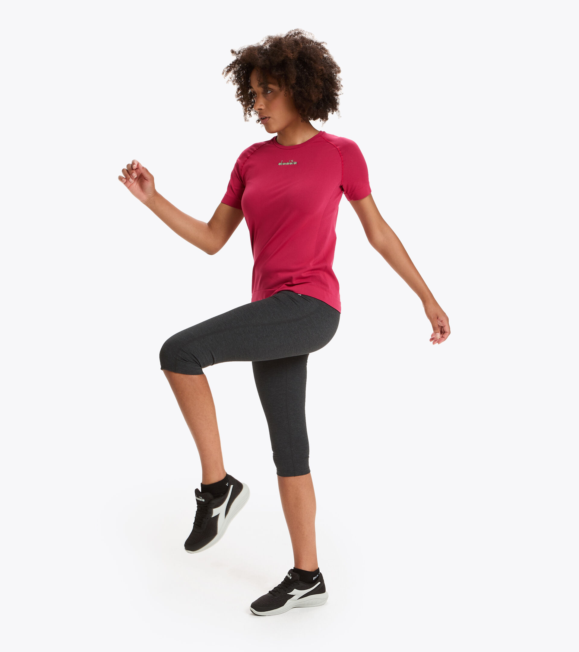 Apparel Sport DONNA L. 3/4 TIGHTS BE ONE GRAY MELANGE MIDDLE Diadora