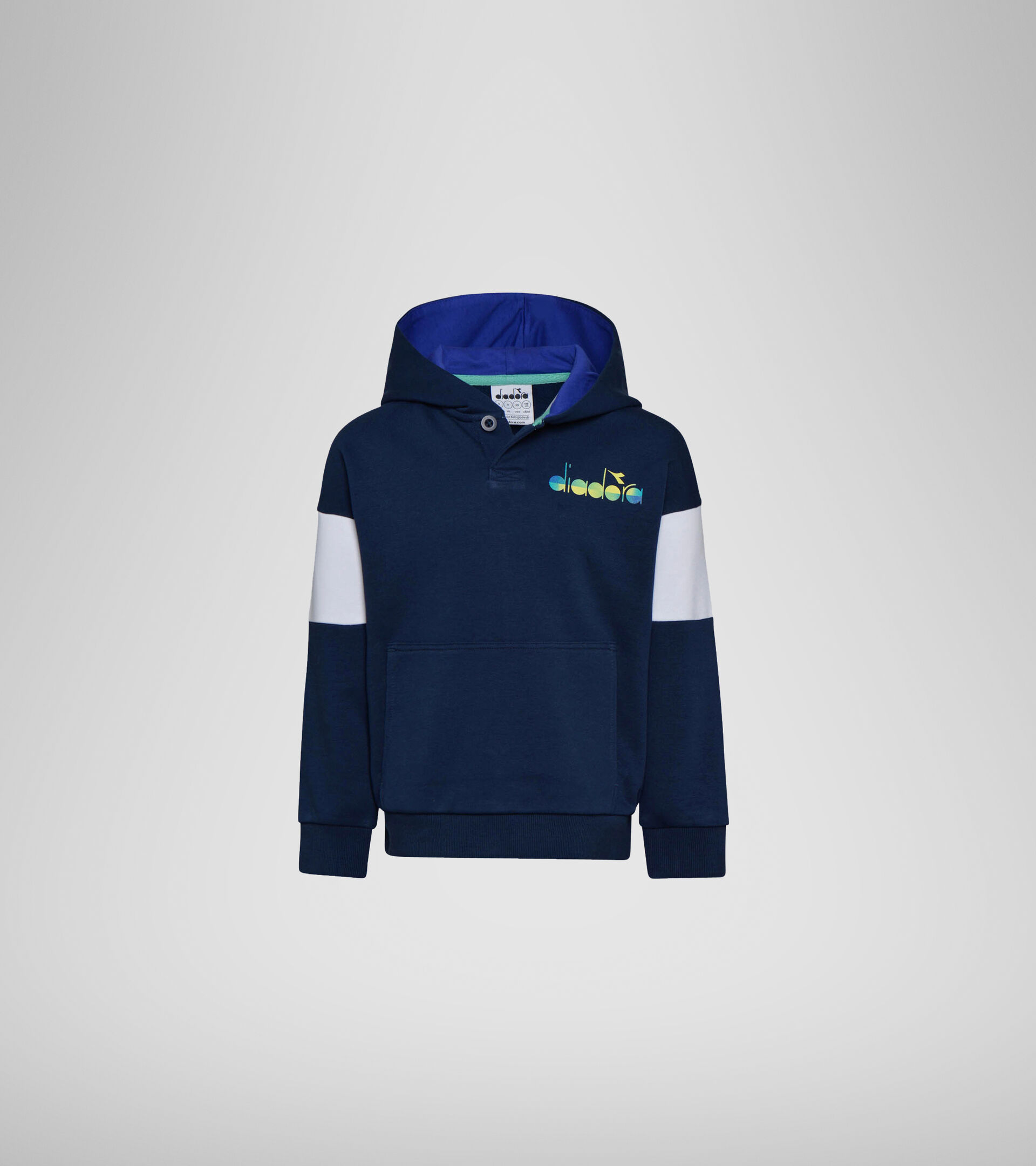 Hooded sweatshirt - Boys JB. HOODIE DIADORA CLUB BLUE CORSAIR - Diadora