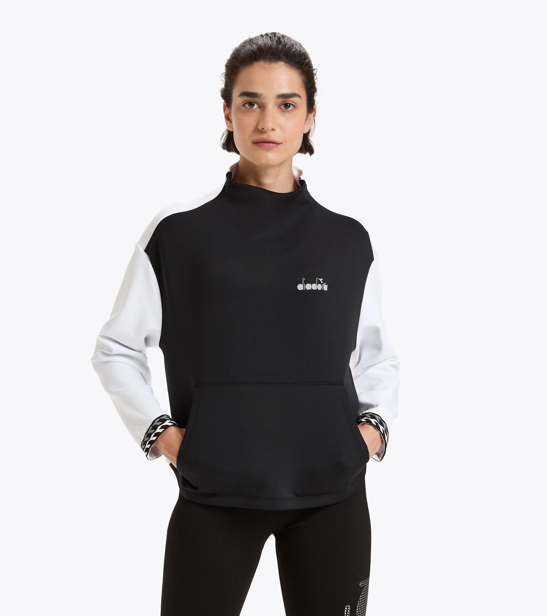 Lauf-Sweater - Damen L. SWEAT BE ONE WEISS/SCHWARZ - Diadora