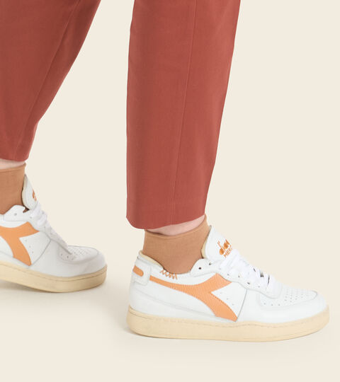 Footwear Heritage UNISEX MI BASKET ROW CUT WHITE/NUGGET Diadora