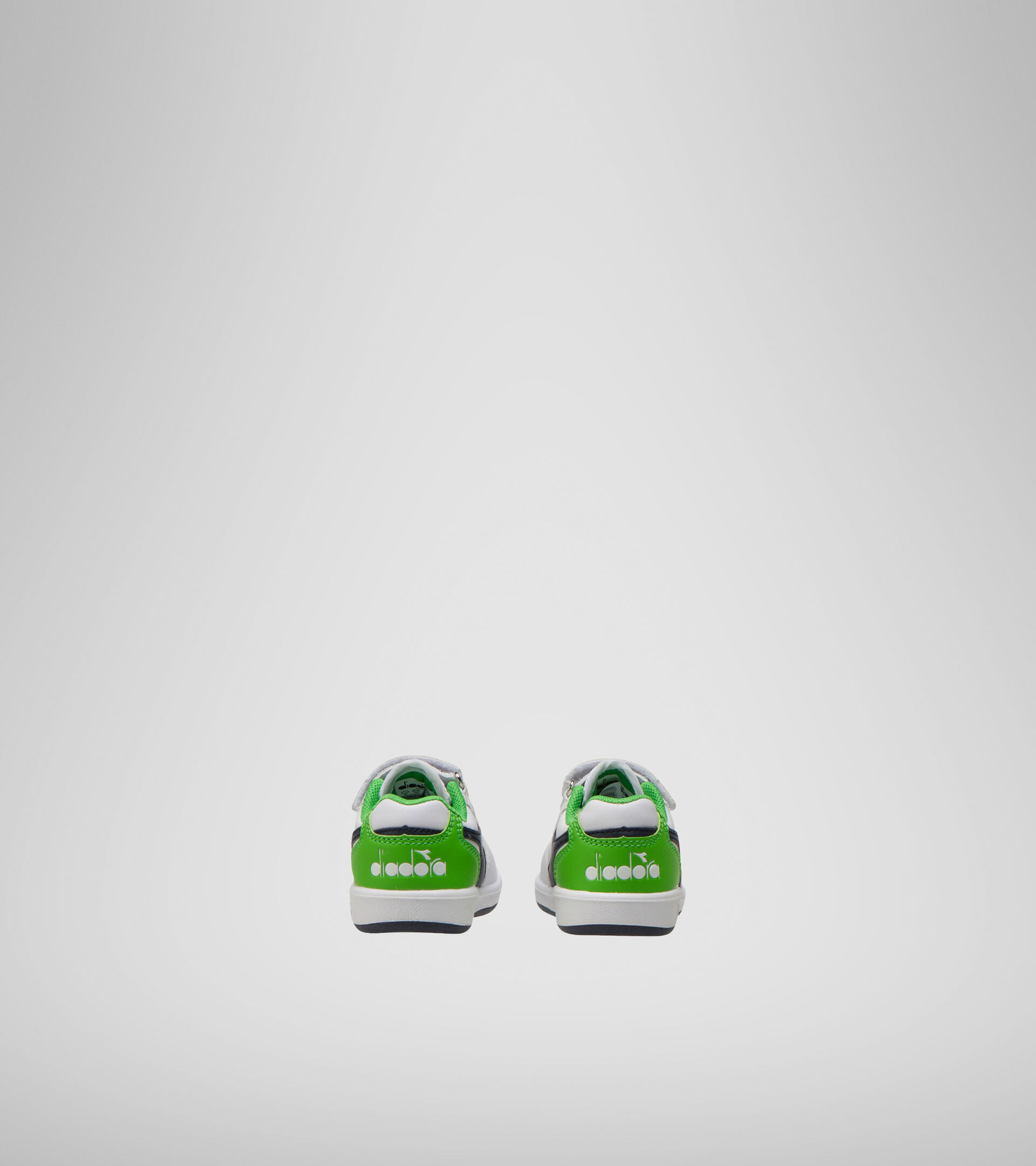 Footwear Sport BAMBINO PLAYGROUND TD WHITE/BLACK IRIS/CLASSIC GREEN Diadora