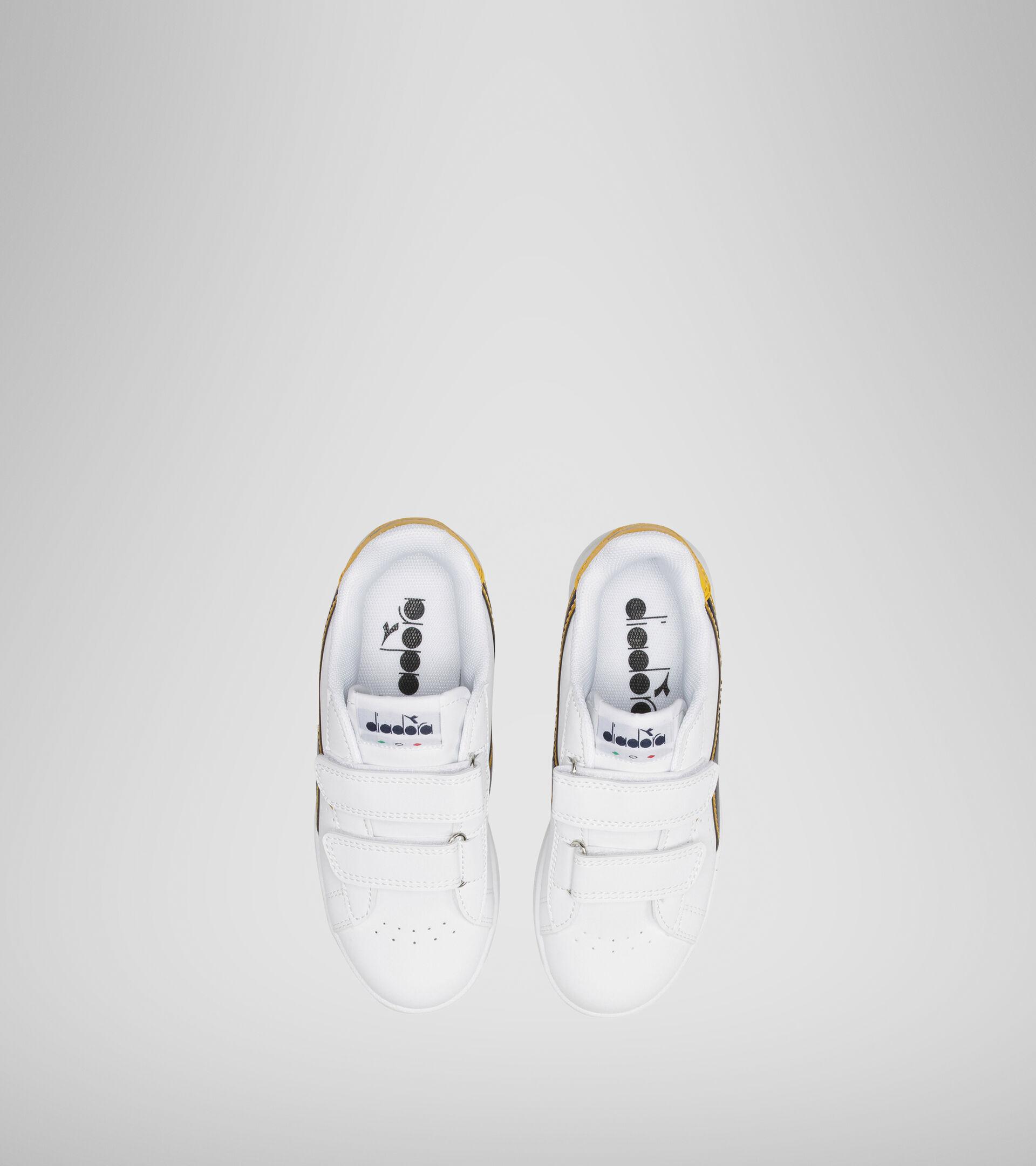 Sports shoes - Kids 4-8 years GAME P PS WHITE/BLACK IRIS/GOLD FUSION - Diadora