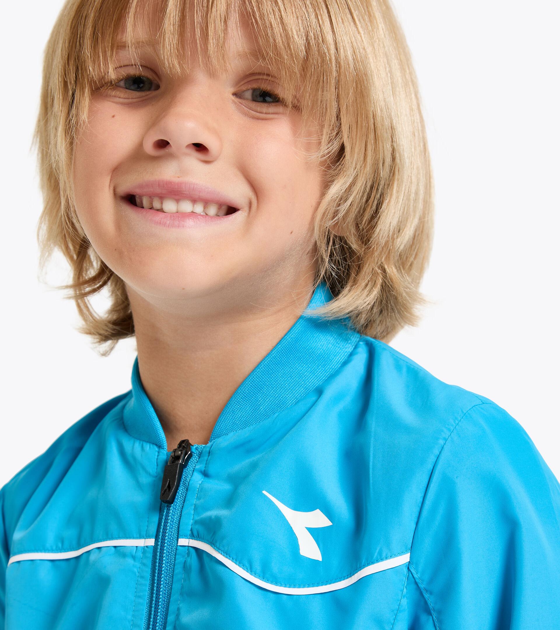 Giacca da tennis - Bambino J. JACKET COURT AZZURRO FLUO - Diadora