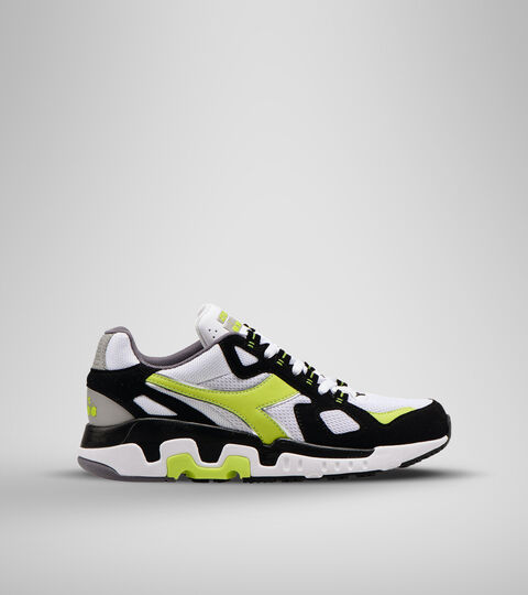 Footwear Sportswear UOMO MYTHOS SUEDE WHITE/ACID GREEN Diadora
