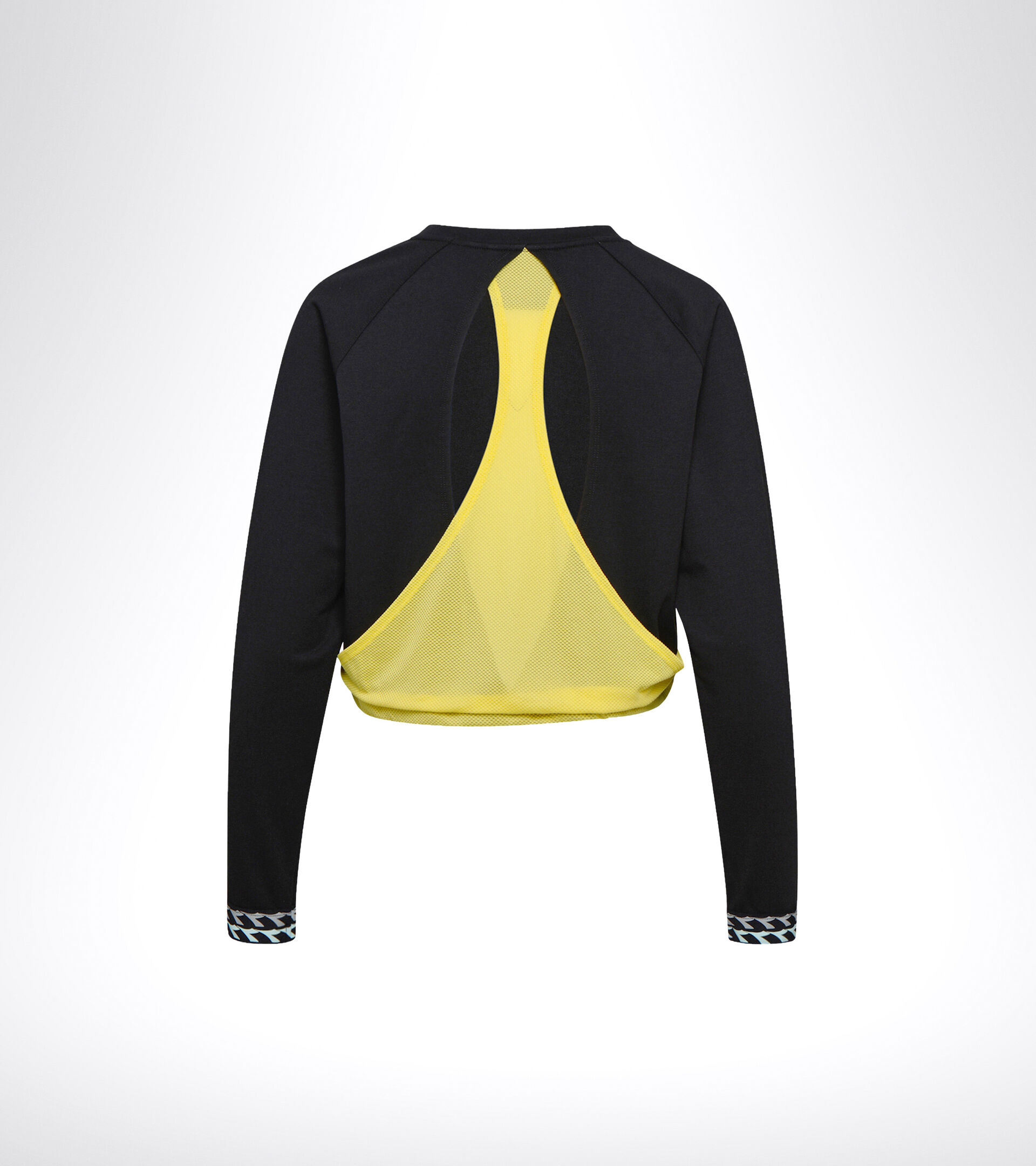 Apparel Sport DONNA L. LIGHTWEIGHT SWEAT BE ONE BLACK/GOLDFINCH Diadora