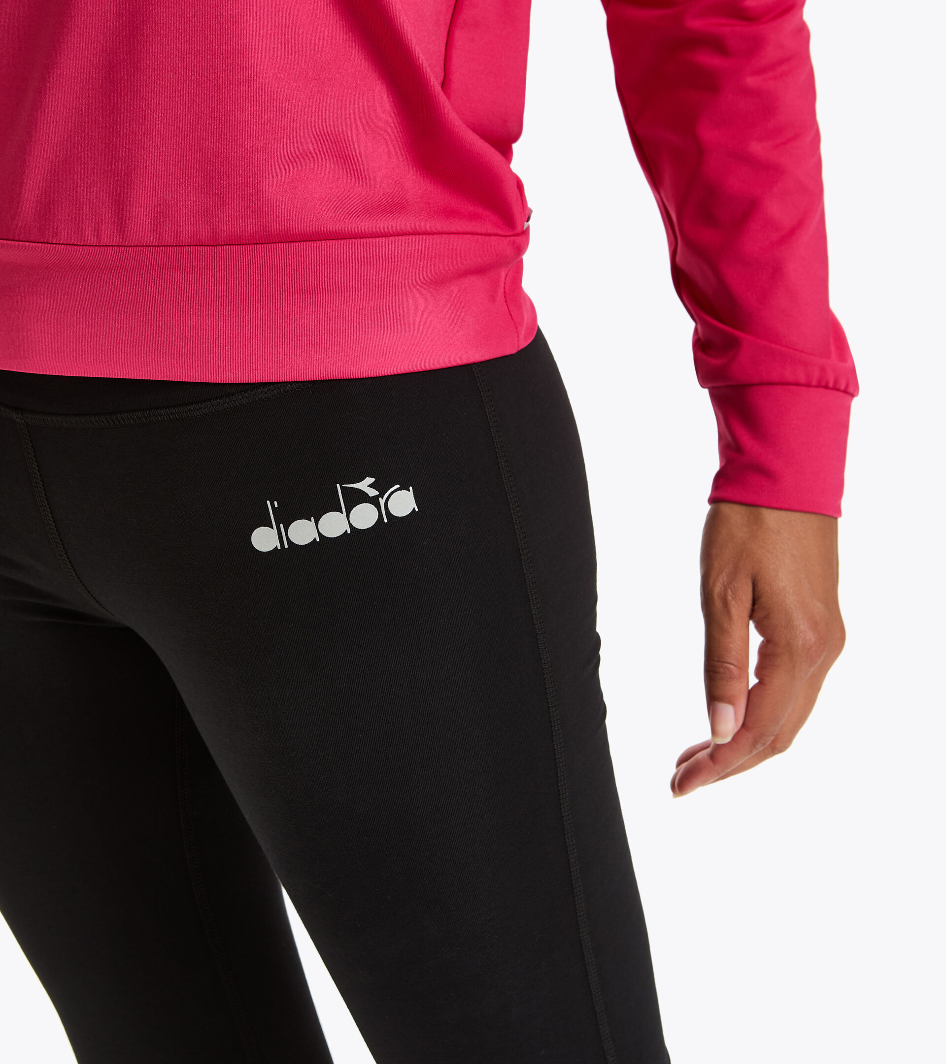 Training leggings - Women L. 3/4 TIGHTS BE ONE BLACK - Diadora