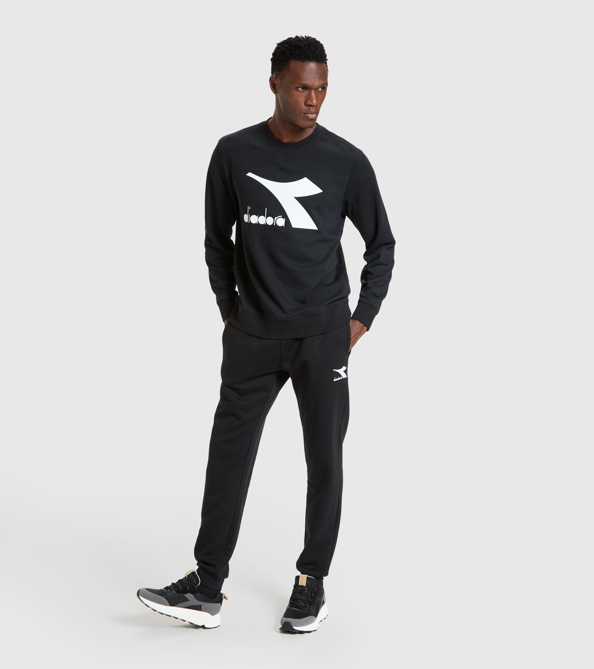 Crew-neck sweatshirt - Men SWEATSHIRT CREW LOGO CHROMIA BLACK - Diadora