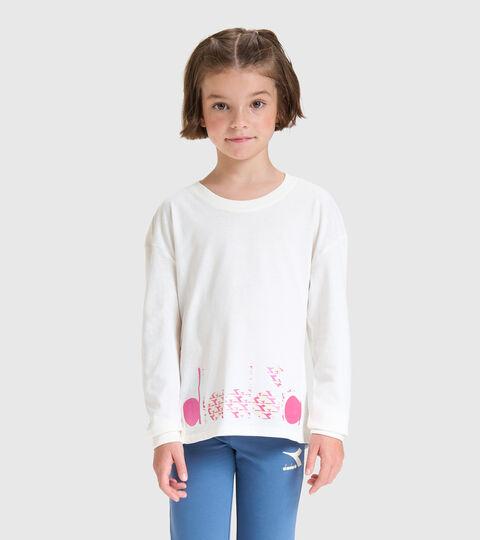 Camiseta de manga larga - Niños JG.T-SHIRT LS TWINKLE BLANCO MURMURAR - Diadora