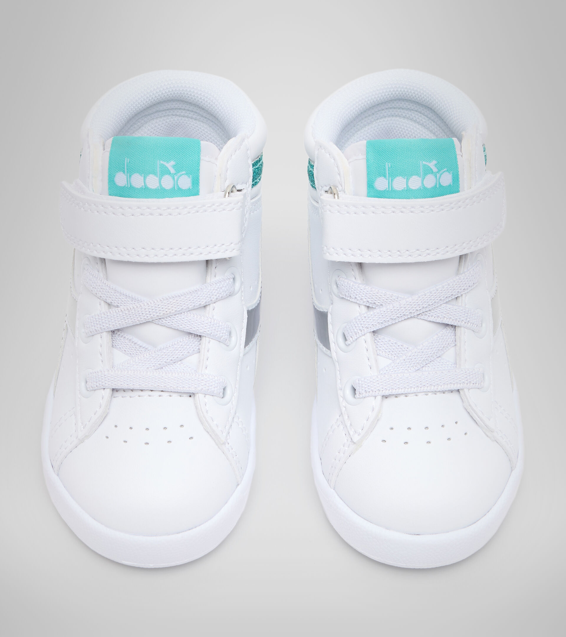 Chaussures de sport - Bambins 1-4 ans GAME P HIGH GIRL TD BLANC/BLEU TURQUOISE - Diadora