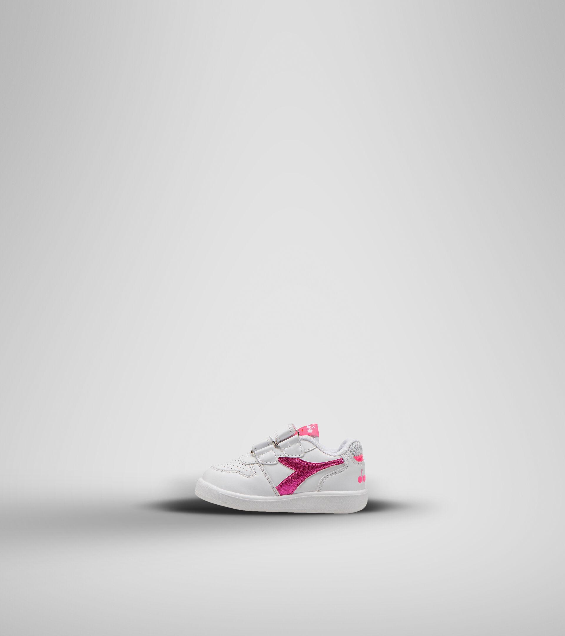 Chaussures de sport - Bambins 1-4 ans PLAYGROUND TD GIRL BLANC/ROSE FLUO - Diadora