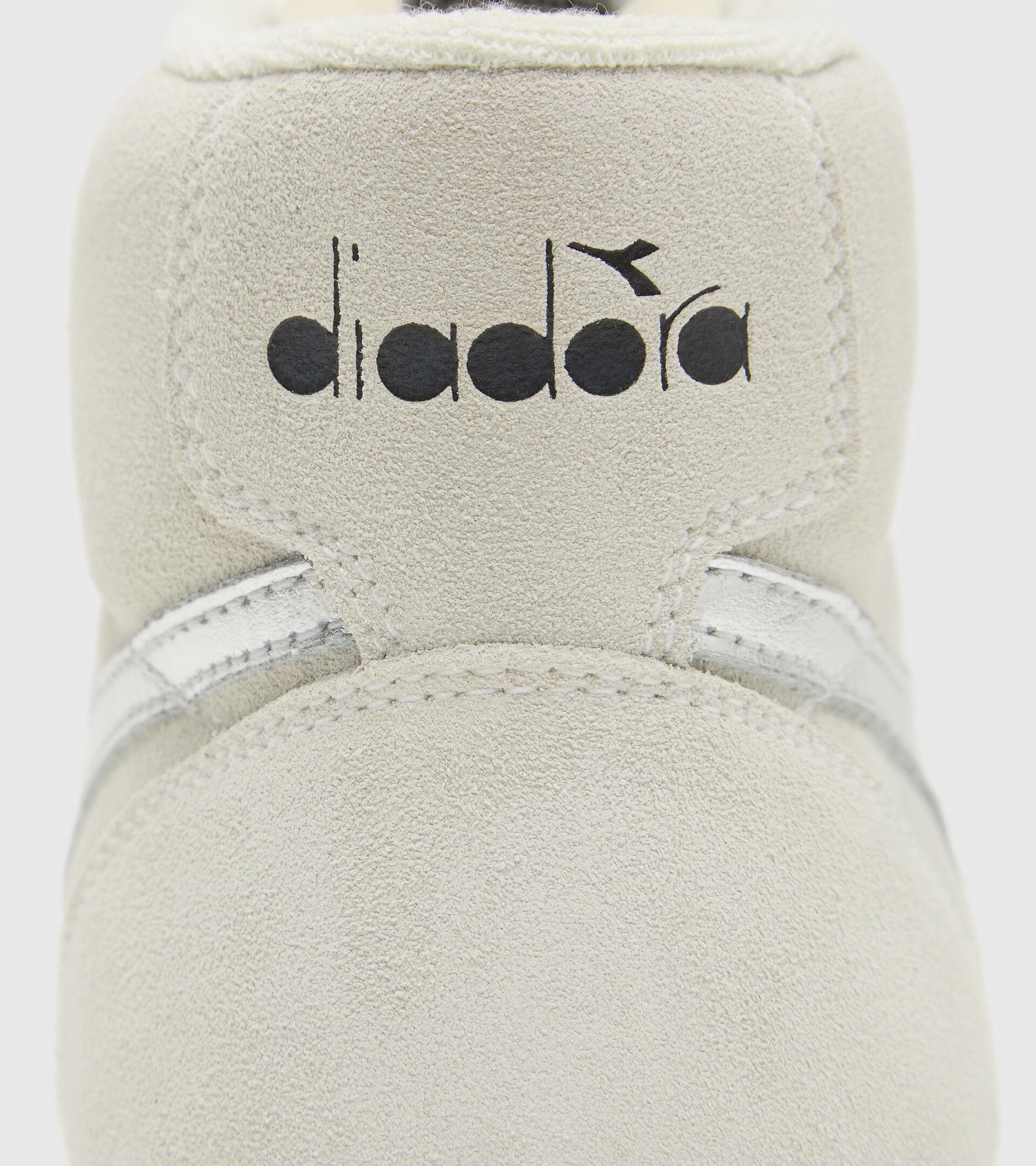 Footwear Sportswear DONNA MELODY MID GLOSSY SUEDE WN BIANCO/ARGENTO .. Diadora