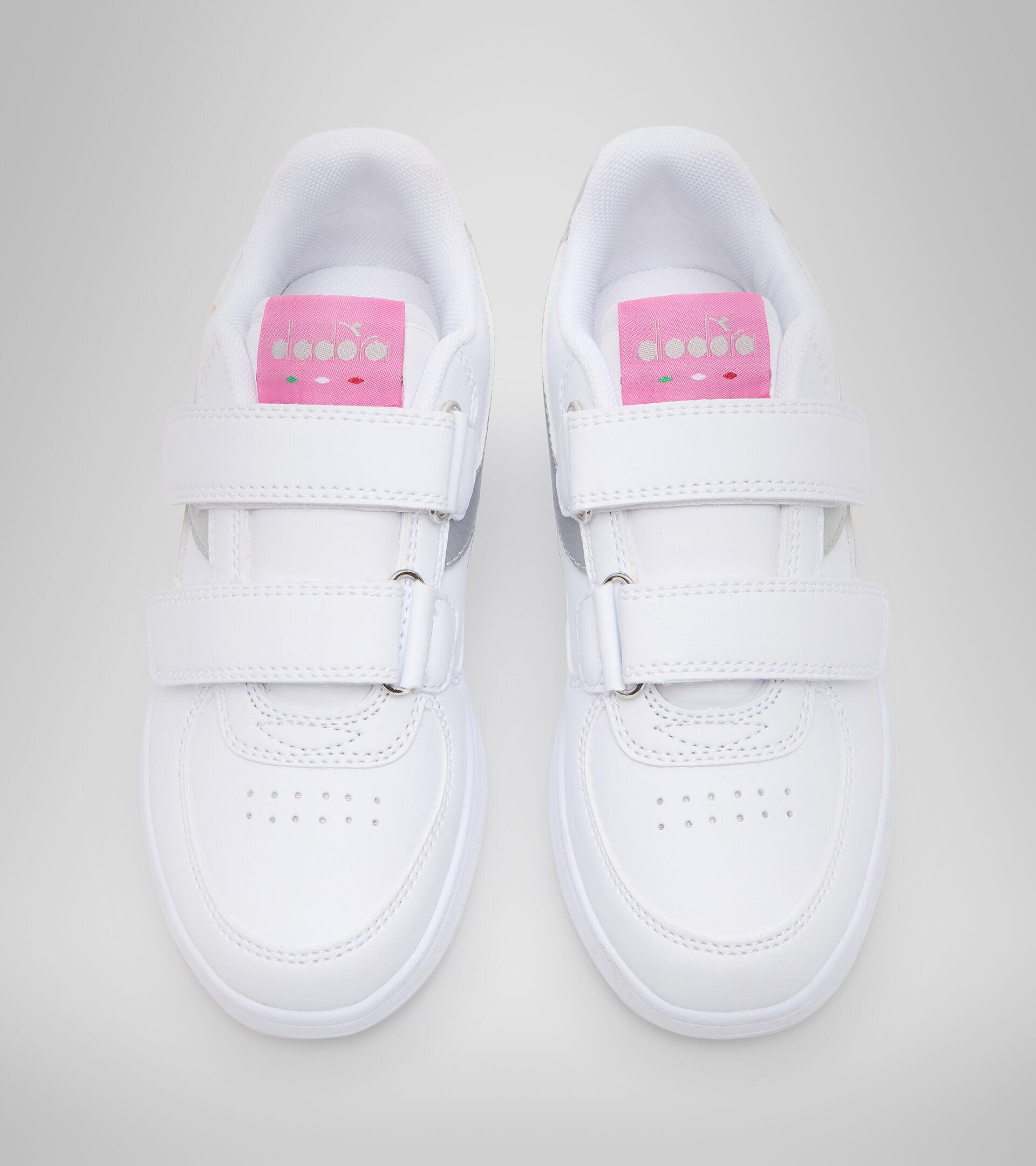 Footwear Sport BAMBINO RAPTOR LOW PS WHITE/SILVER Diadora