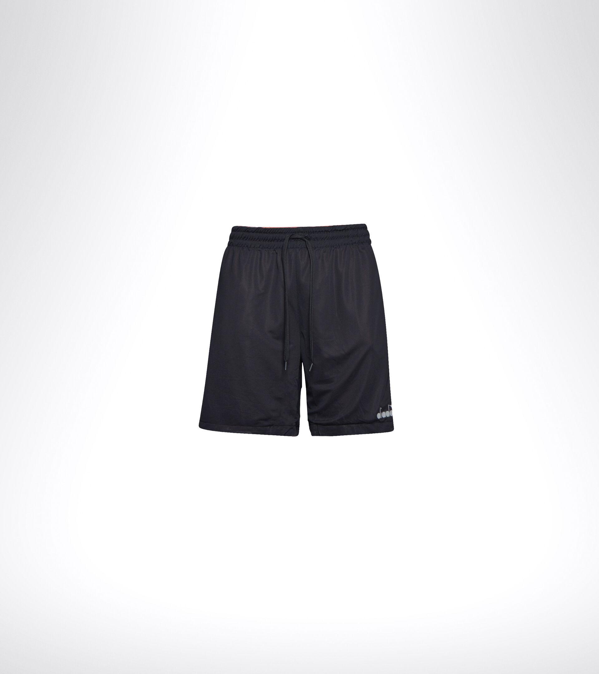 Double-face running shorts - Men BERMUDA REVERSIBLE BE ONE MECCA ORANGE/BLACK - Diadora