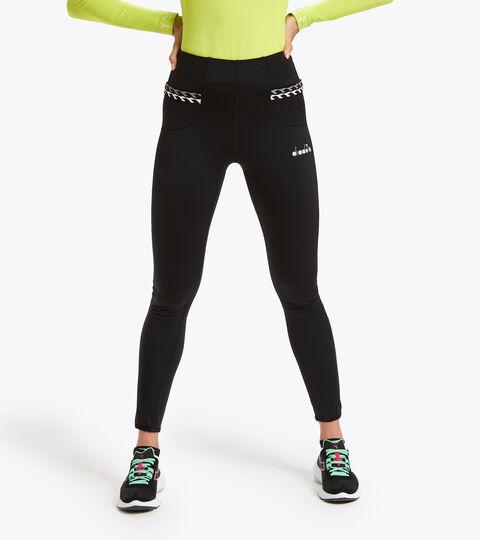 Leggings de running - Femme L. HW RUNNING TIGHTS NOIR - Diadora