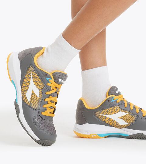 Clay and hard court tennis shoe - Unisex kids SPEED COMPETITION 2+ Y QUIET SHADE/WHITE/SAFFRON - Diadora