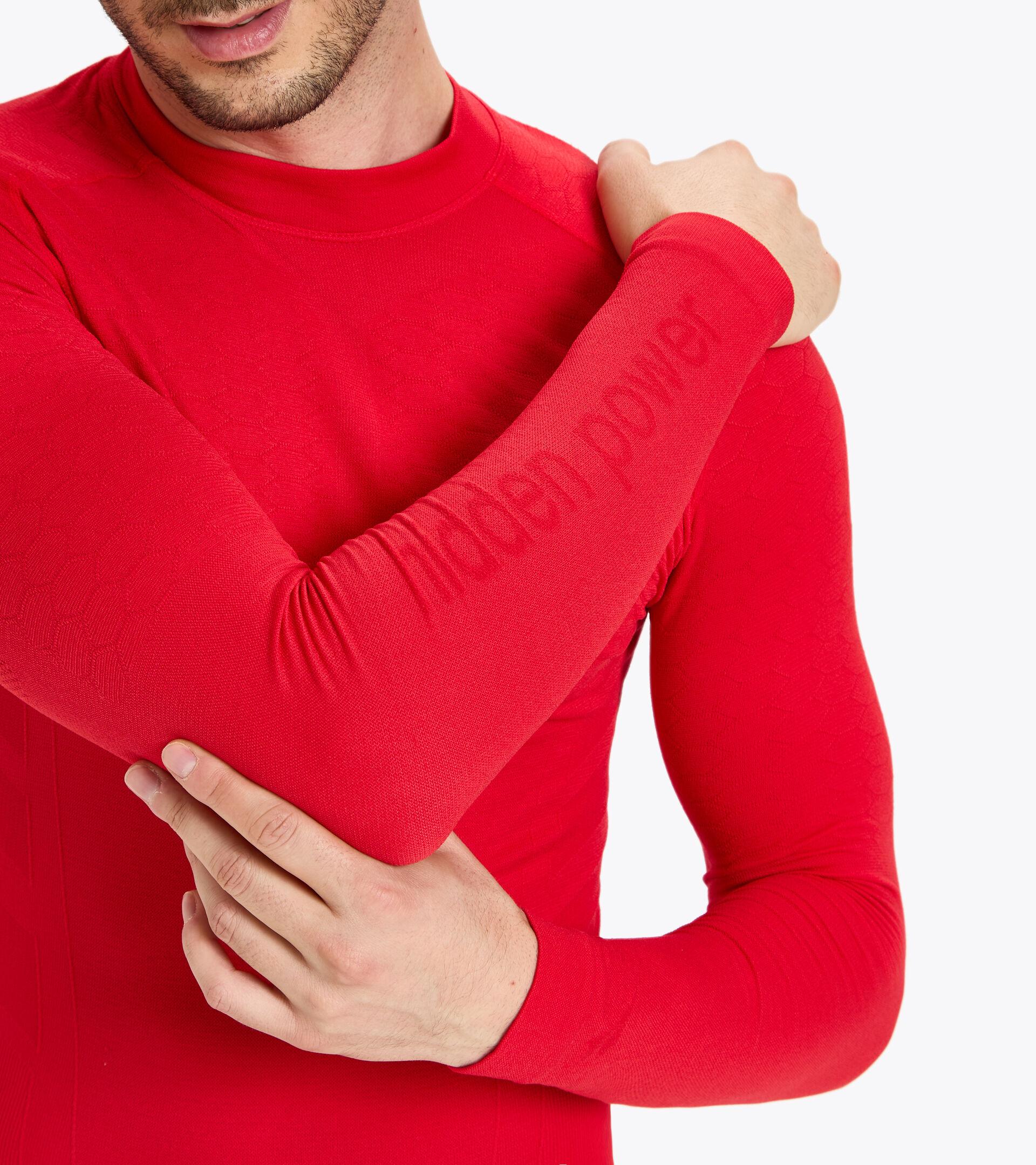 Camiseta de entrenamiento de manga larga - Hombre LS TURTLE NECK ACT ROJO LICEOS - Diadora