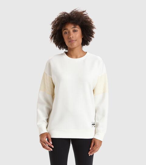 Sweater mit Rundhalsausschnitt - Damen L. SWEATSHIRT CREW URBANITY MARSHMALLOW WEISS - Diadora