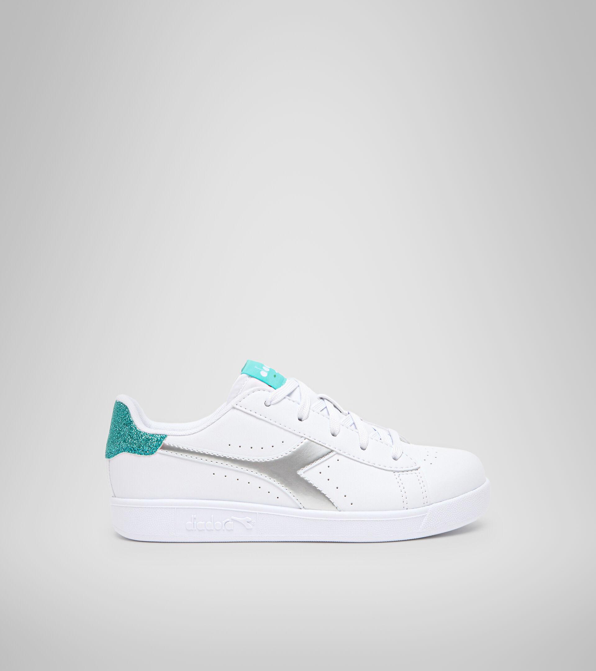 Footwear Sport BAMBINO GAME P GS GIRL WHITE/BLUE TURQUOISE Diadora