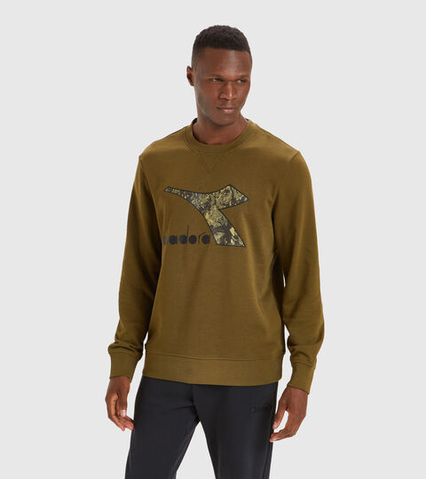 Crew-neck sweatshirt - Men SWEATSHIRT CREW LOGO CHROMIA OLIVE GREEN - Diadora