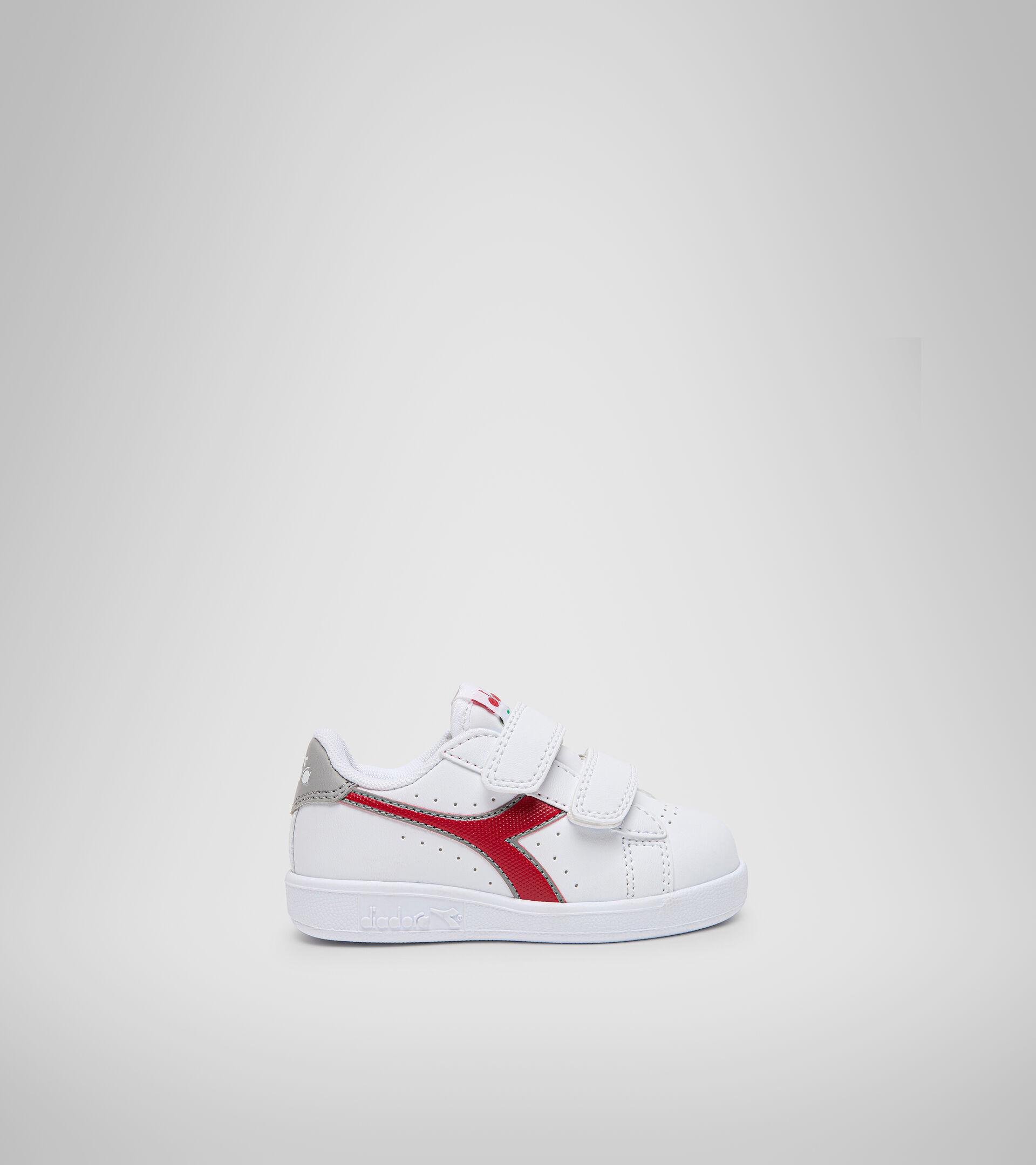 Footwear Sport BAMBINO GAME P TD WHITE/TANGO RED Diadora