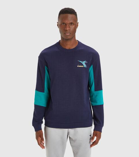 Crew-neck sweatshirt - Men SWEATSHIRT CREW SHIELD CLASSIC NAVY - Diadora