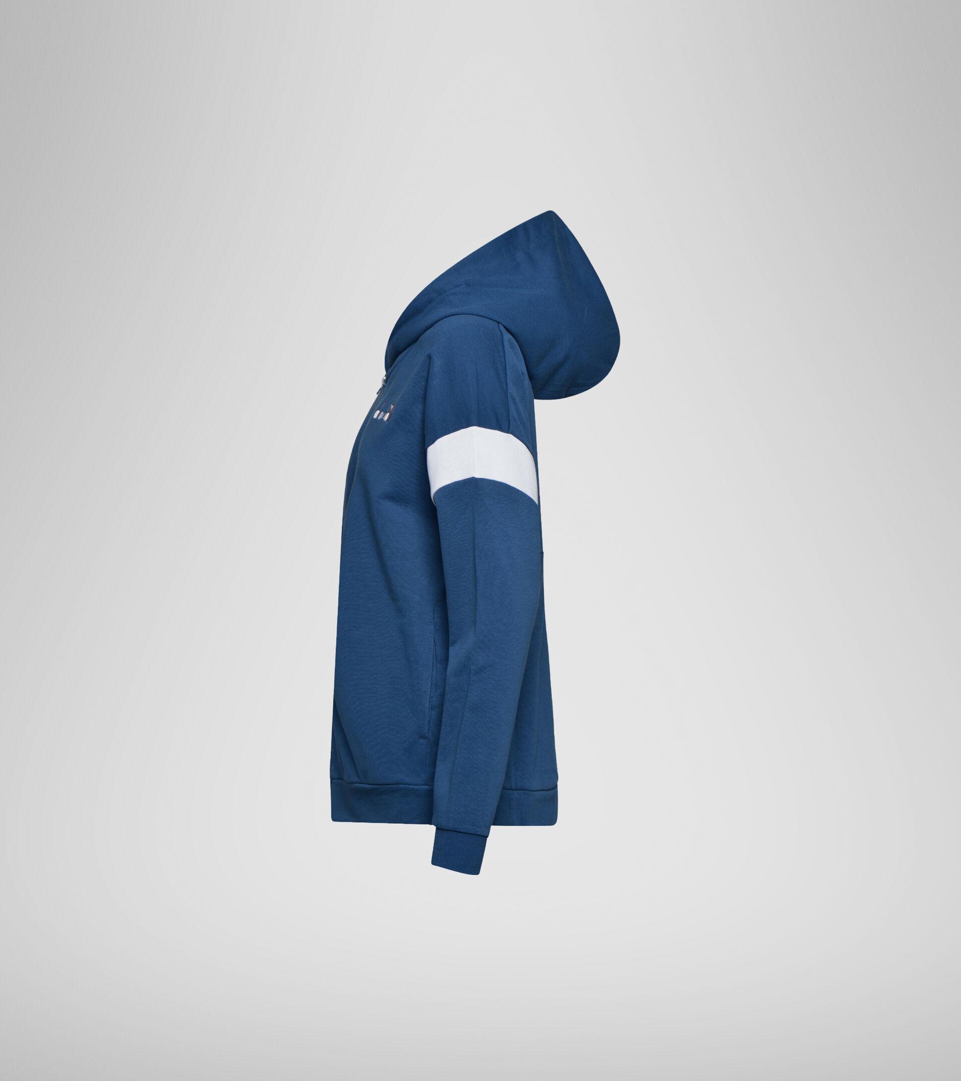 Apparel Sport DONNA L. HOODIE FZ SPOTLIGHT ENSIGN BLUE Diadora